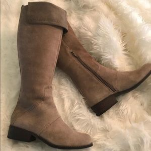 New Nine West Suede 7M fold down knee high boots